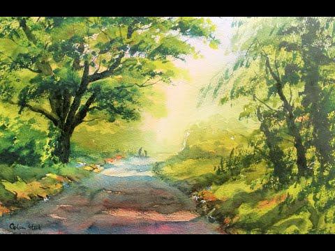 Thumbnail of Back Lane, Galleywood, Essex, (watercolour demonstration)