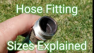 What is the Size of a Standard Garden Hose Fitting or Connector?