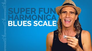 A Fun Way To Learn The Blues Scale on Harmonica (the lower two-thirds)
