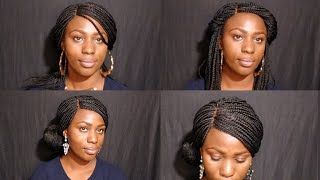 5 Simple ways to style a braided wig.#howto #style #diy