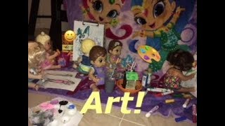 BABY ALIVE: Summer Camp!: Art!🎨 Painting, Drawing, Fashion Plates, And More!😀