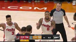 Blazers vs. Jazz | Final Minute of 4th Quarter: Feb. 7, 2020