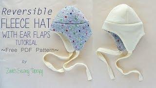 Kids Fleece Hat With Ear Flaps ~FREE Pattern~