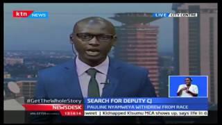 KTN News Desk: Justice Pauline Nyamweya withdraws from the race to be the next Deputy CJ, 3/10/16