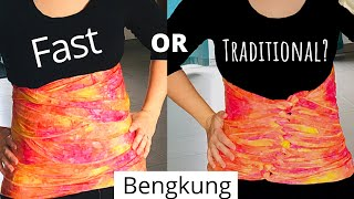 2 ways to wrap a Bengkung Belly Bind - Wrap it FAST or the traditional way!