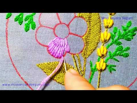Beautiful Flower Embroidery, Magic of Needlework, Easy Embroidery Design, 2021 Flower Embroidery-263