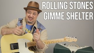 The Rolling Stones   Gimme Shelter   How To Play On Guitar   Lesson + Tutorial