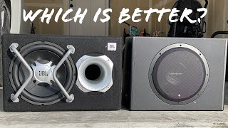 JBL GT Bass Pro 12 vs. Rockford Fosgate P300 12 - Battle of Powered Subwoofers - Decibel Results!!