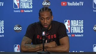 Kawhi Leonard Full Interview - Game 6 Preview | 2019 NBA Finals Media Availability