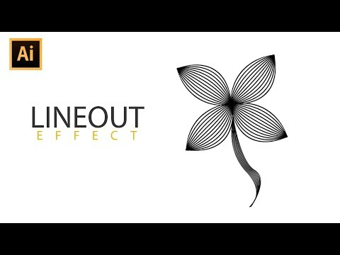 How to Create a Lineout Effect | Blend Tool | Adobe Illustrator | Quick Tips
