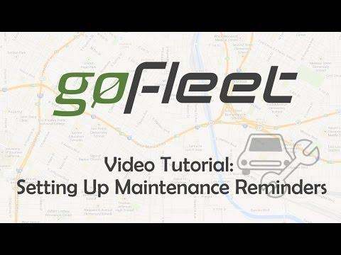 Setting Up Fleet Maintenance Reminders