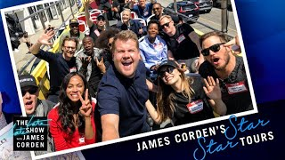'Avengers: Infinity War' Cast Tours Los Angeles W James Corden