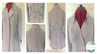 The Making Of My Linen Trench Style Duster Jacket