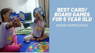 Best Card & Board Games for 5 year Olds - Focus,Attention Span & Concentration-Indian HomeSchool