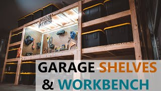 DIY Garage Shelves / Shelf / Workbench / Storage / Industrial