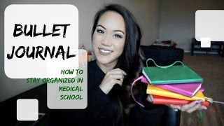 How To Stay Organized in Med School   Bullet Journal