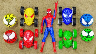 Color spider car, spider-man, color wheels - Learn to play, learn to learn - Kid Sudio