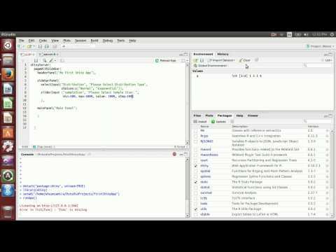 Rstudio Tutorial Part 1: How to write a web application using RStudio