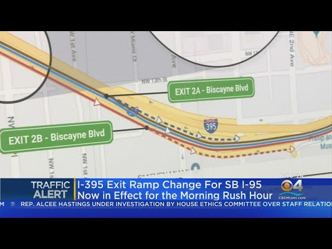 I-395 Exit To Biscayne Boulevard Has Moved