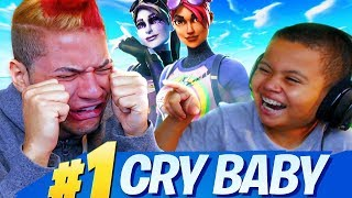 10 YEAR OLD BROTHER MAKES MINDOFREZ CRY LIKE A BABY!!! (FOOTAGE!) FORTNITE BATTLE ROYALE *TROLLING*