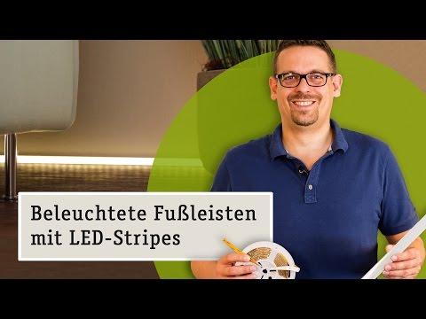 LED Lichtleiste als Fußbodenbeleuchtung: Mit Delta Profil und LED Strips