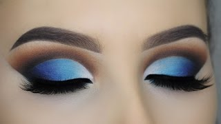 Blue Glam Cut Crease Tutorial