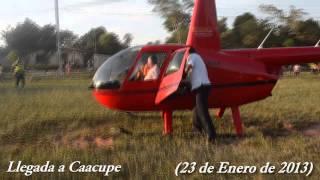 preview picture of video 'Video inedito de la llegada de Lino O en helicoptero a Caacupe'