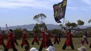 雷桜第7回みやこ姫よさこい祭り海の見える踊り広場
