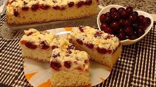 Puszyste Ciasto Drożdżowe z Wiśniami | Przepis na Ciasto z Wiśniami