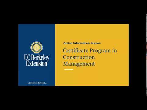Certificate Program in Construction Management - YouTube