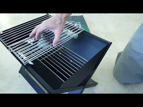 Unboxing of Fire Sense Notebook Charcoal Grill