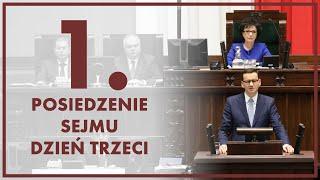 🔴NA ŻYWO] Exposé Prezesa Rady Ministrów | 1. posiedzenie Sejmu – dzień trzeci