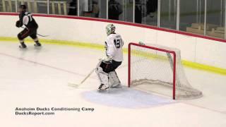 Goalie Iiro Tarkki At The Anaheim Ducks Conditioning Camp Scrimmage