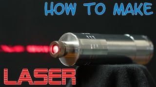How to make a powerful burning laser from DVD-rw