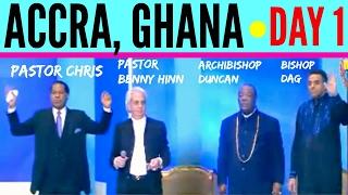 Pastor BENNY HINN, Pastor CHRIS, Bishop DAG & Archbishop DUNCAN United In ACCRA (Ghana)   DAY 1