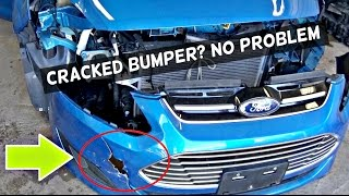 How to Fix Cracked Bumper Cover . Amazing Results