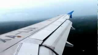 preview picture of video 'LANDING IN CANCUN QUINTA ROO - AIRBUS-320-JUNIO-2012.MOV'