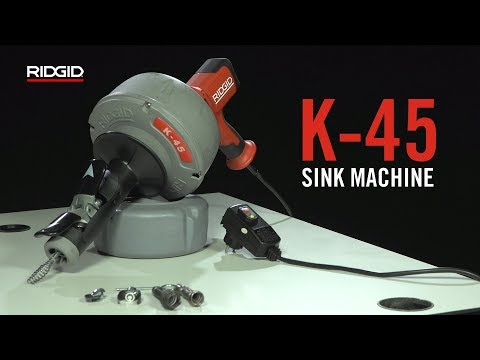 RIDGID K-45 Sink Machine