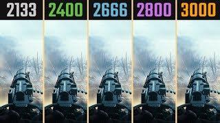 2133MHz vs. 2400MHz vs. 2666MHz vs. 2800MHz vs. 3000MHz vs. 3200MHz Gaming