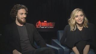 "Aaron Taylor-Johnson and Elizabeth Olsen Talk 'Avengers 2', Worst Jobs, and Play ""Save or Kill"""