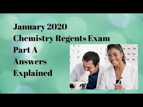 Chemistry Regents January 2020 Part A Answers Explained ...