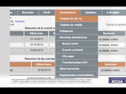 Nueva Banca en Linea OAS STAFF FCU