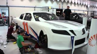 Elliott Sadler's No. 11 Stratasys Toyota Gets Wrapped
