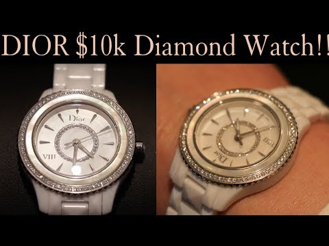 $10,000 DIOR Diamond Watch – White Ceramic – Women's – HD Unboxing