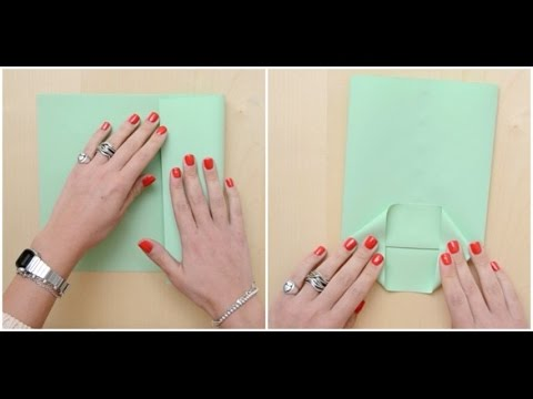Come realizzare un pacchetto regalo con un foglio di carta