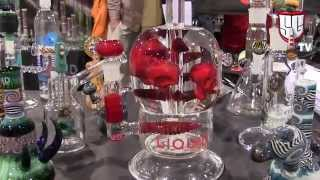 Tommy Chong, Glass Art & MMJ Products - CHAMPS Glass Games PART 1 Las Vegas USA - Smokers Guide TV