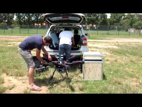 DJI MATRICE 600 PRO Industrial Drone Test