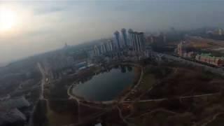 Sunday Flights, Panoramic view of Mosfilmosvsky pond. #Gopro #Съёмка #гоночный #квадрокоптер #drone