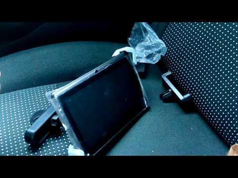 Urlaubsfahrt mit Kopfstützenhalterung Tablet Halter für Rücksitz, 360 Grad  7 - 10,1 Zoll Tablet