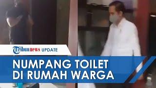 Viral Video Jokowi Numpang ke Toilet di Rumah Warga, Paspampres Berjaga dari Luar